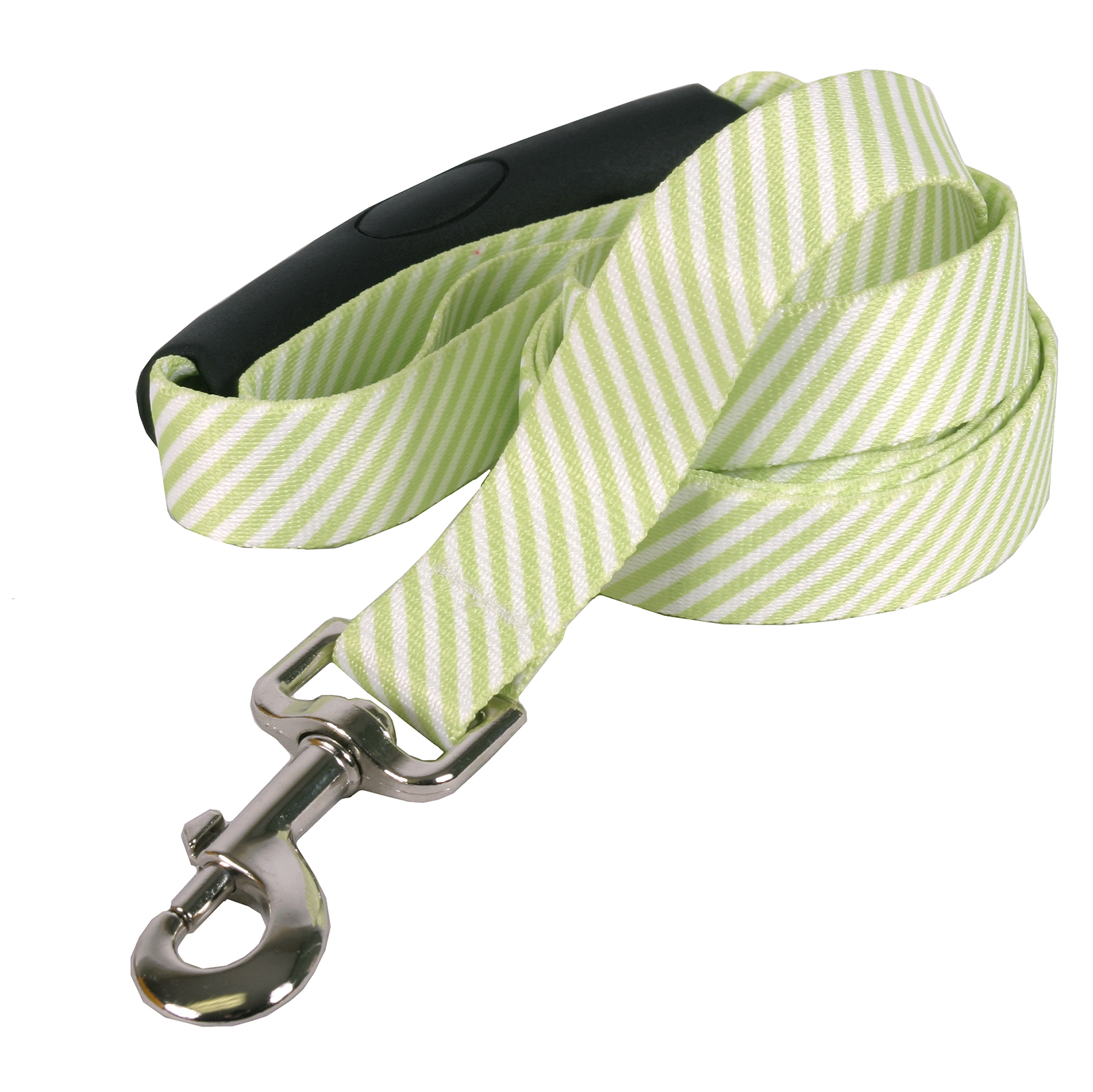 Southern Dawg: Seersucker Green EZ-Grip Dog Leash