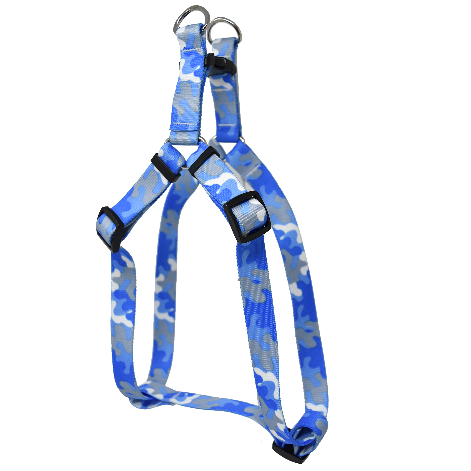 Light Blue & Grey Camo Step-In Harness