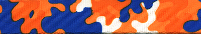 Orange & Royal Blue Camo
