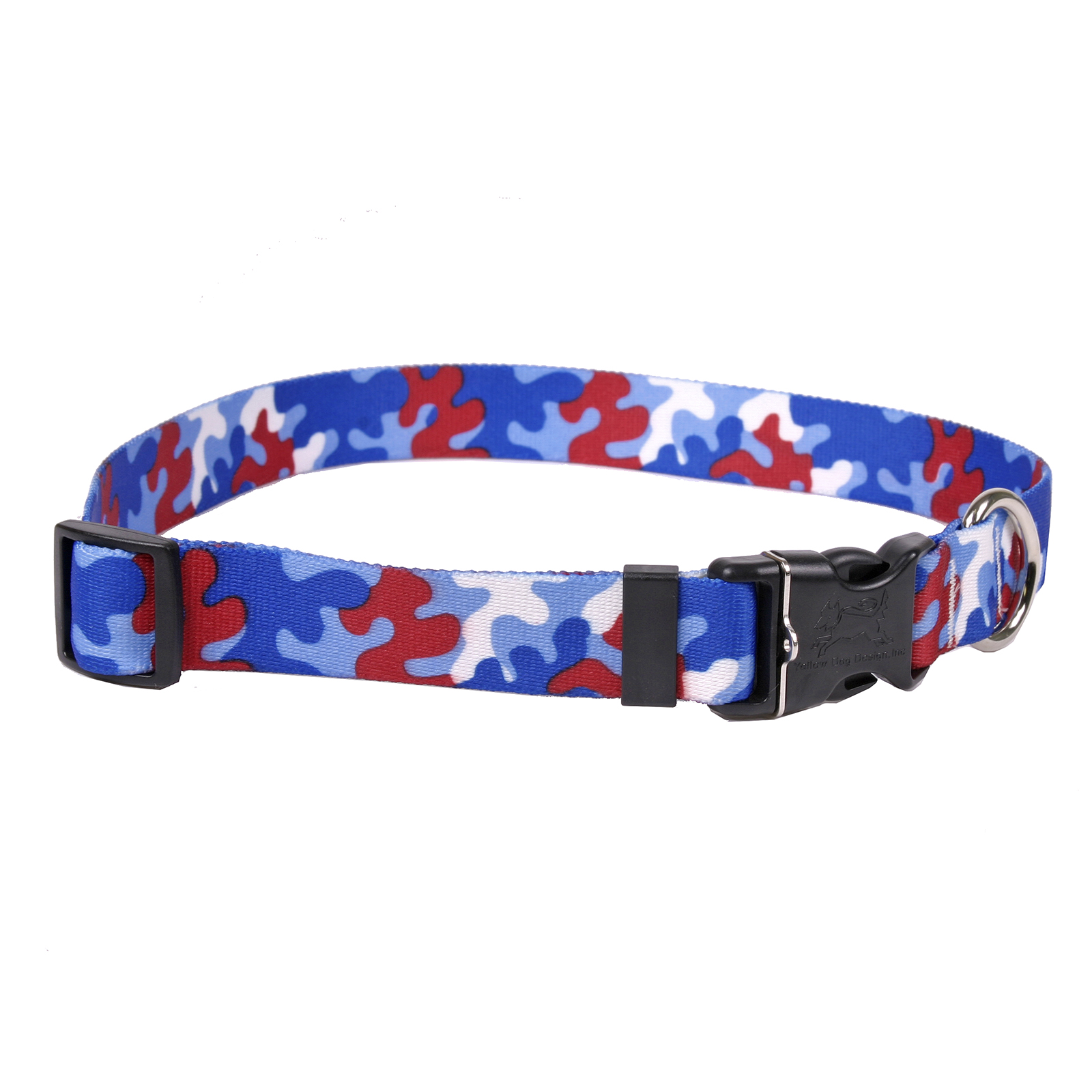 Red & Royal Blue Camo Standard Collar