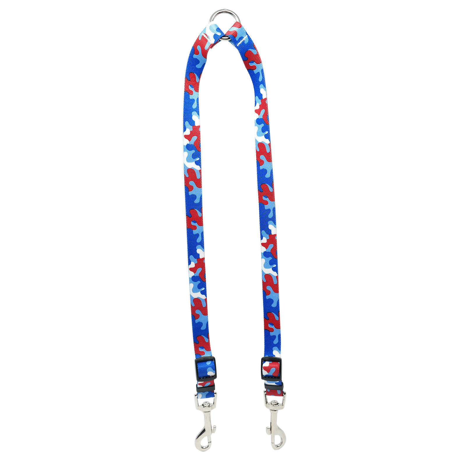 Red & Royal Blue Camo Coupler Lead