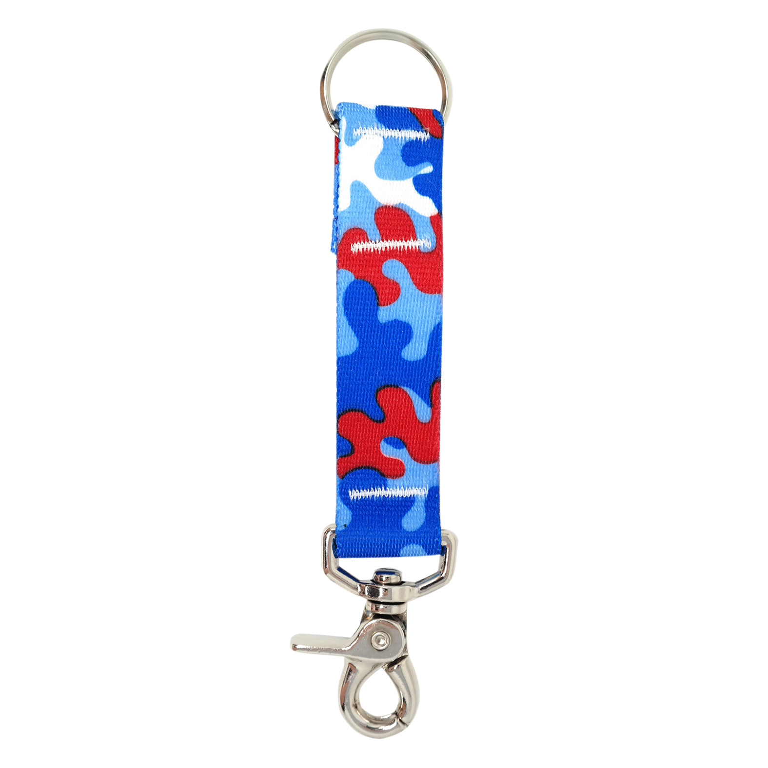 Red & Royal Blue Camo keychain