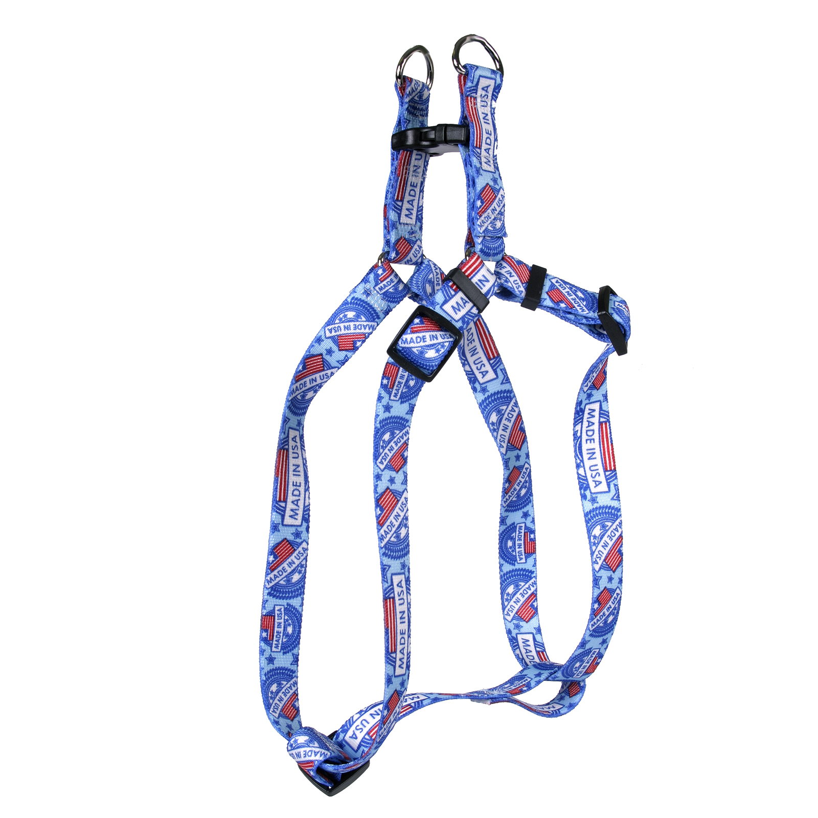 Made in USA Blue Step-In Harness