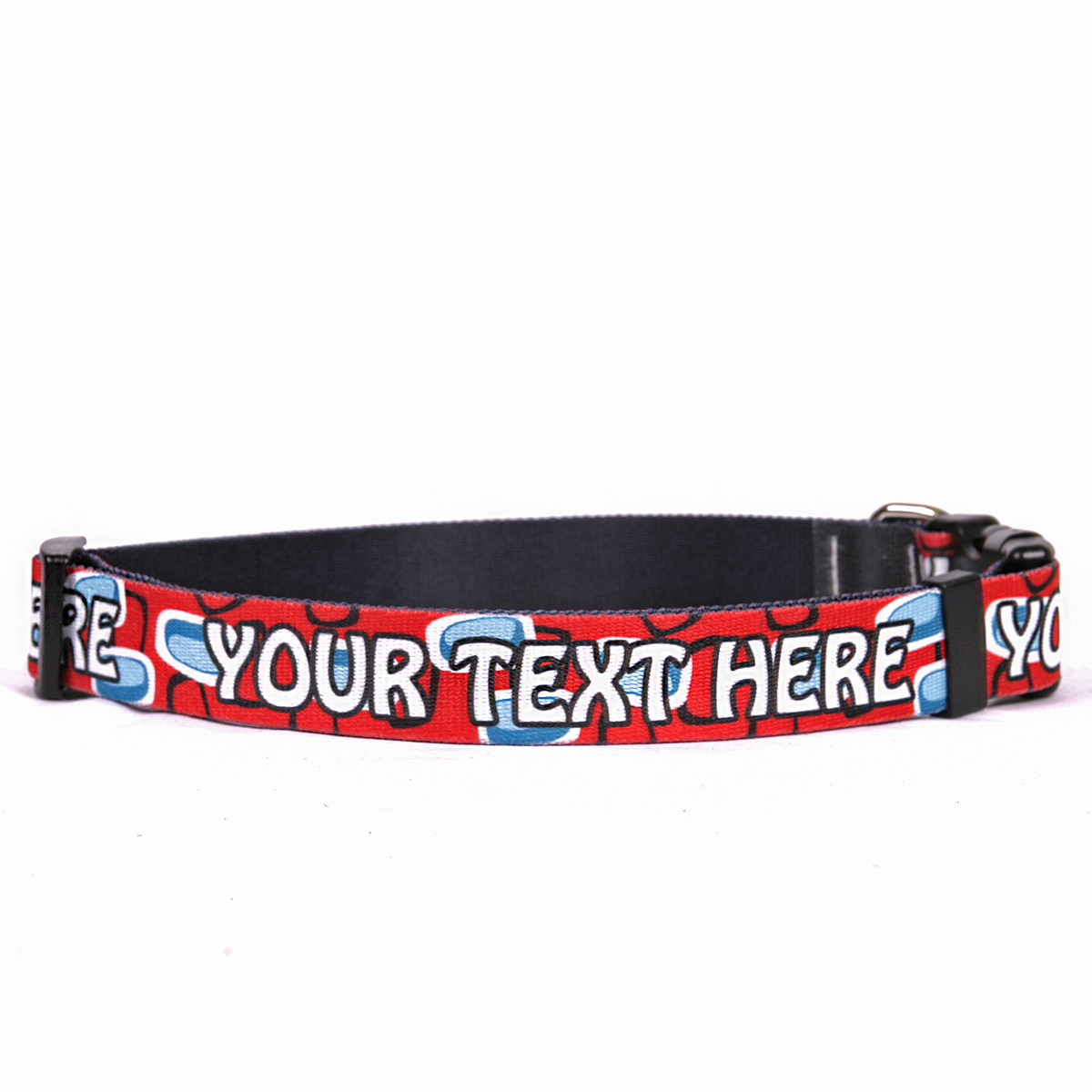 YDiD Personalized Geometric Red Dog Collar