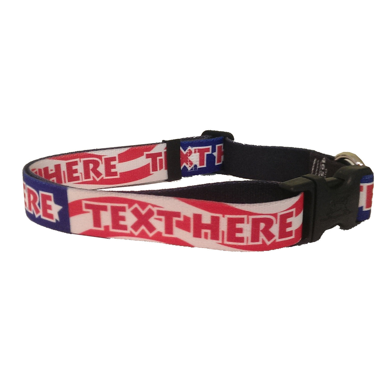 YDiD Personalized US Flag Americana Dog Collar