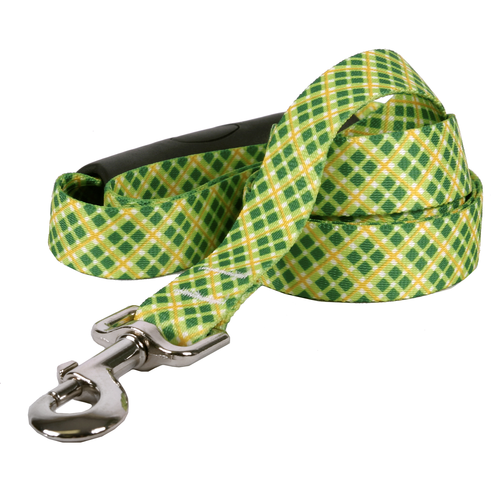 Yellow and Green Diagonal Plaid EZ-Lead