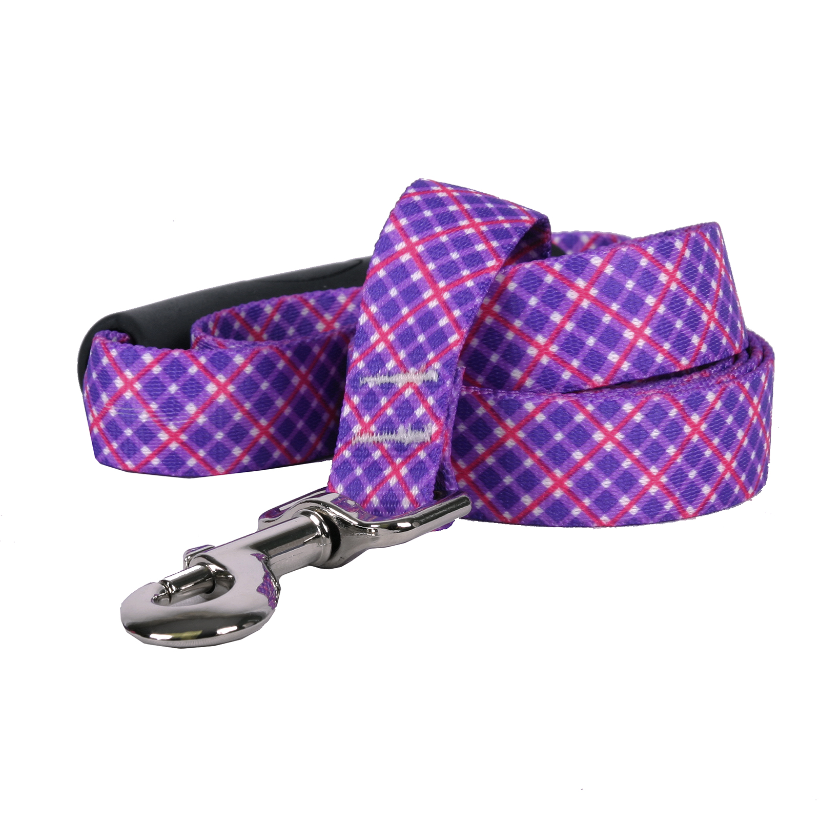 Purple and Pink Diagonal Plaid EZ-Lead