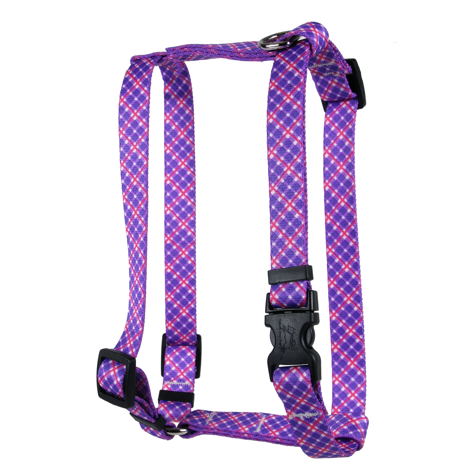 Purple and Pink Diagonal Plaid Roman H Harness