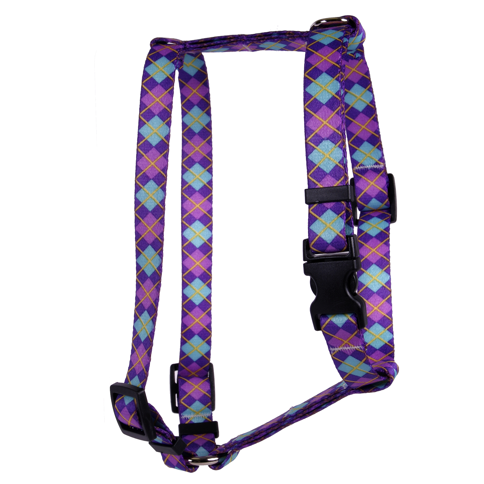 Argyle Purple Roman H Harness