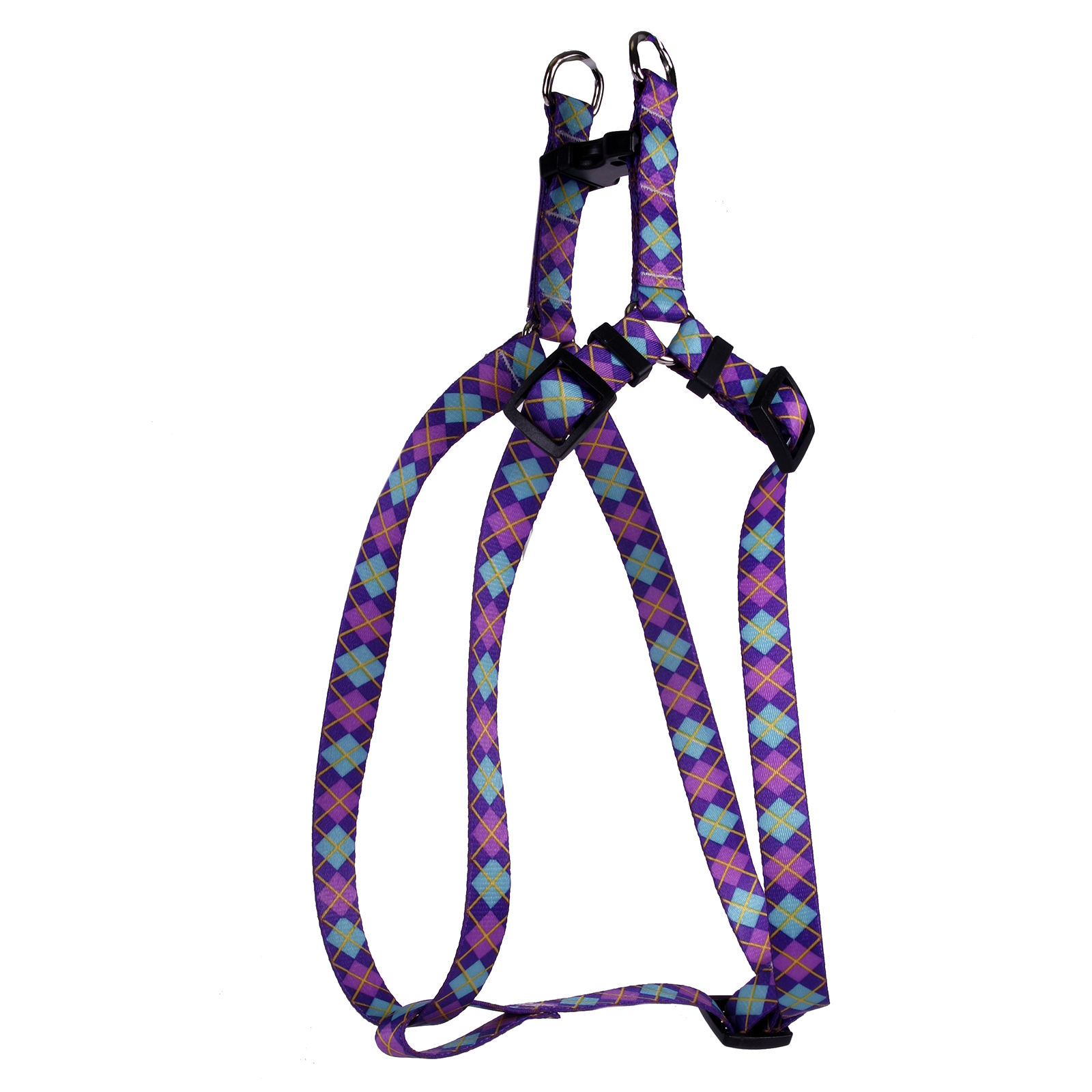 Argyle Purple Step-In Harness