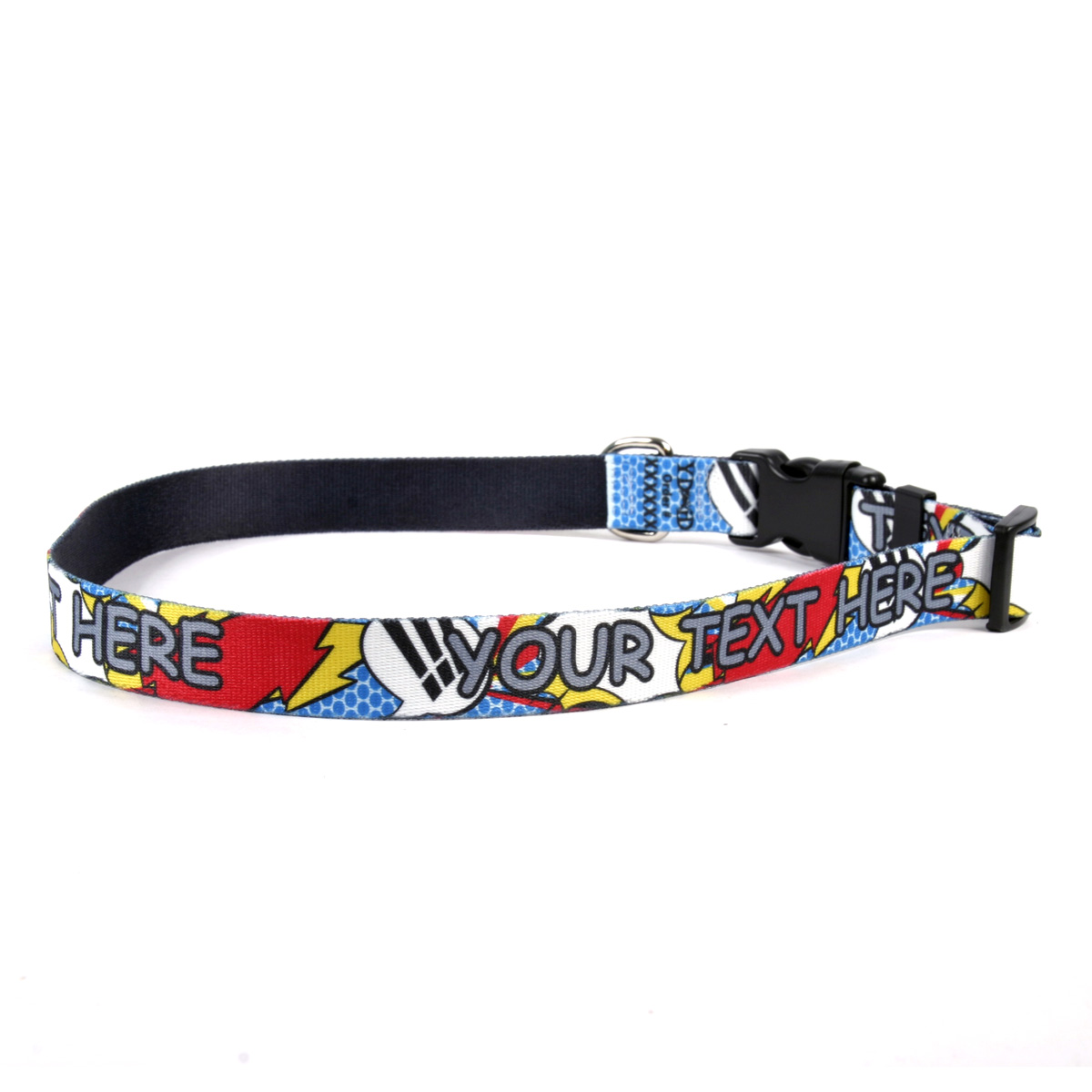 YDiD Personalized Comic Book Print Dog Collar