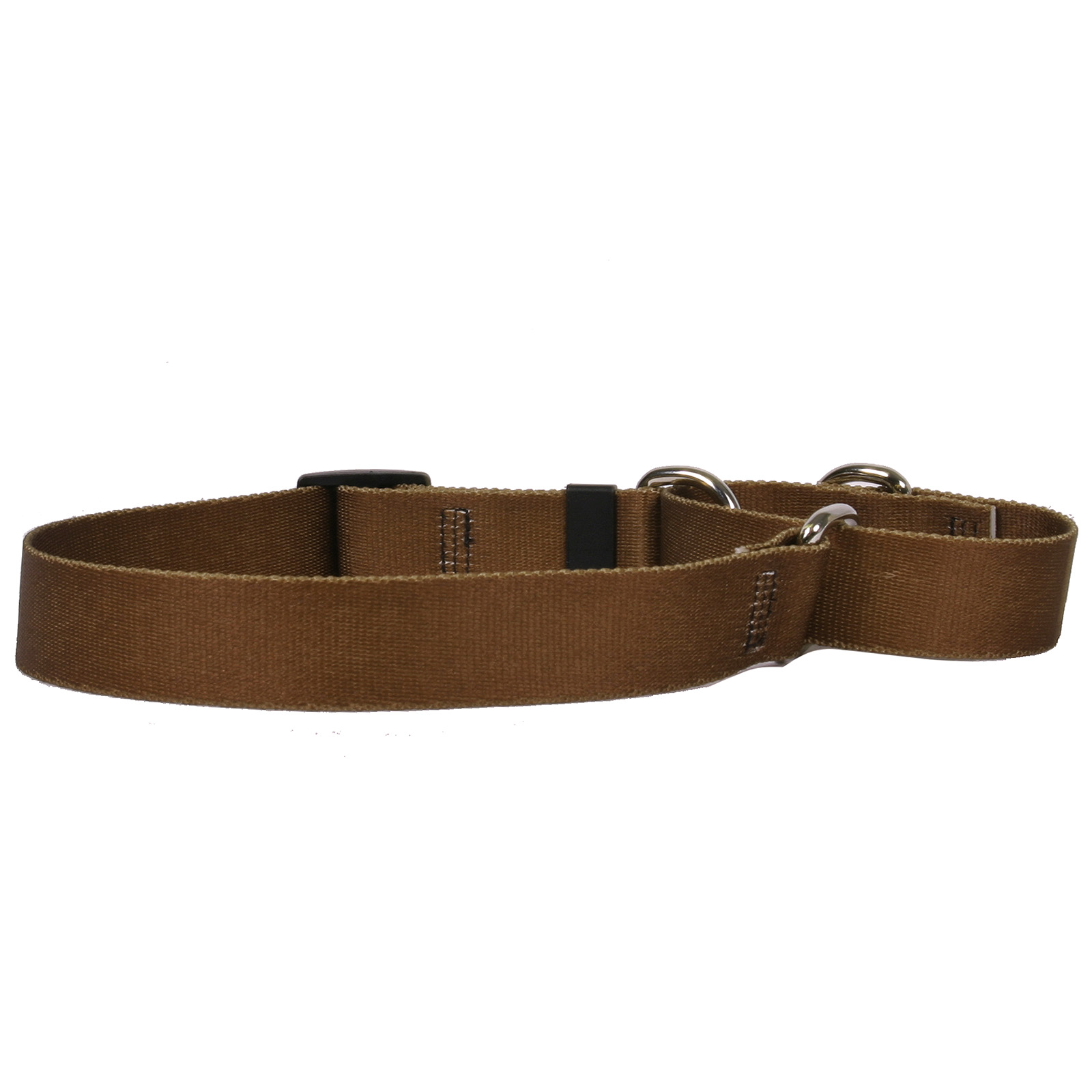 Solid Brown Martingale Collar
