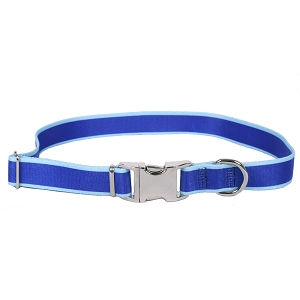 Sterling Stripes Collection Royal Blue and Light Blue Dog Collar