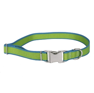 Sterling Stripes Collection Spring Green and Teal Dog Collar