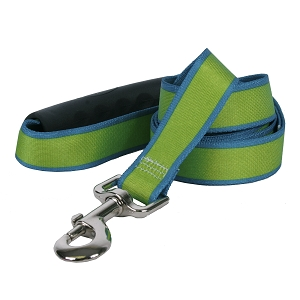 Sterling Stripes Collection Spring Green and Teal EZ-Grip Dog Lead