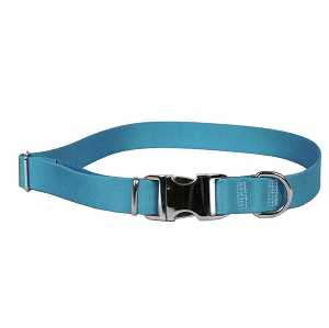 Sterling Solid Collection Teal Dog Collar