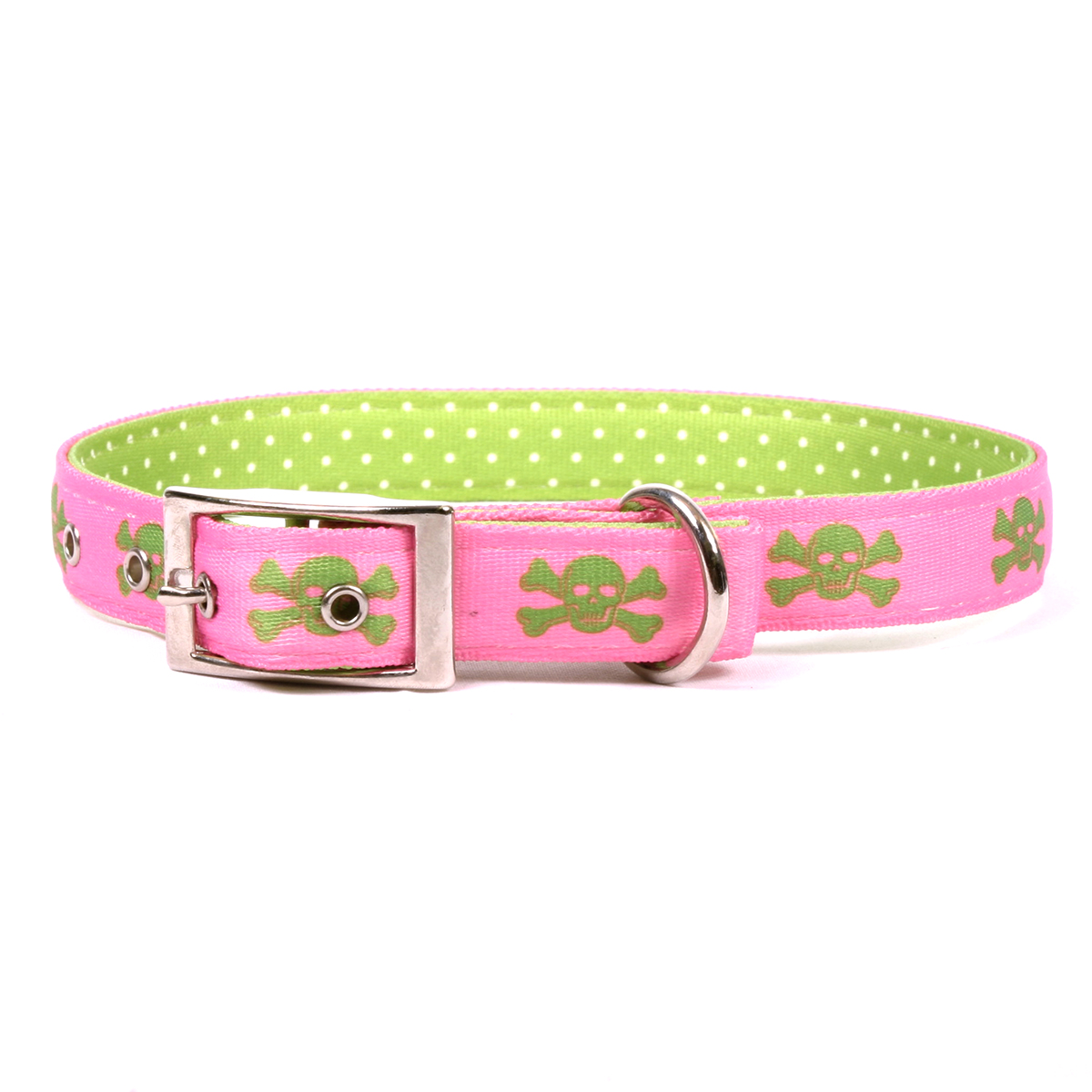 Pink and Green Skulls Uptown Collar