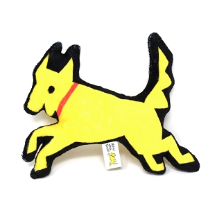 Yellow Dog Squeaky Toy